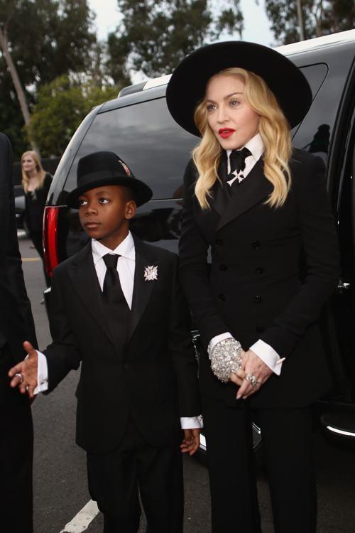 Мадонна и её сын Дэвид Банда посетили церемонию вручения 56-й музыкальной премии «Грэмми» 26 января 2014 года в Лос-Анджелесе (США). Фото: Christopher Polk/Getty Images for NARA