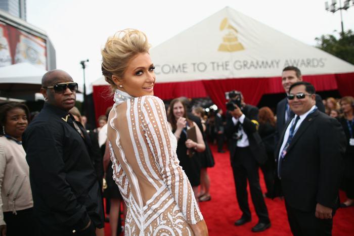Пэрис Хилтон посетила церемонию вручения 56-й музыкальной премии «Грэмми» 26 января 2014 года в Лос-Анджелесе (США). Фото: Christopher Polk/Getty Images for NARA