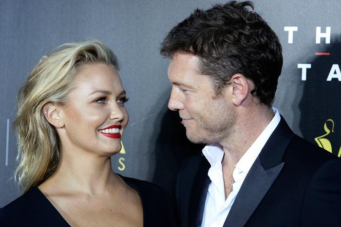 Сэм Уорингтон и Лара Бингл, на церемонии вручения кинопремии AACTA 30 января 2014 года в Сиднее (Австралия). Фото: Lisa Maree Williams/Getty Images
