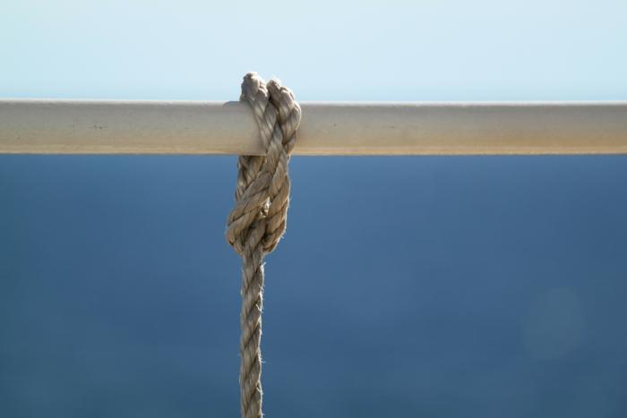 веревка на перекладине