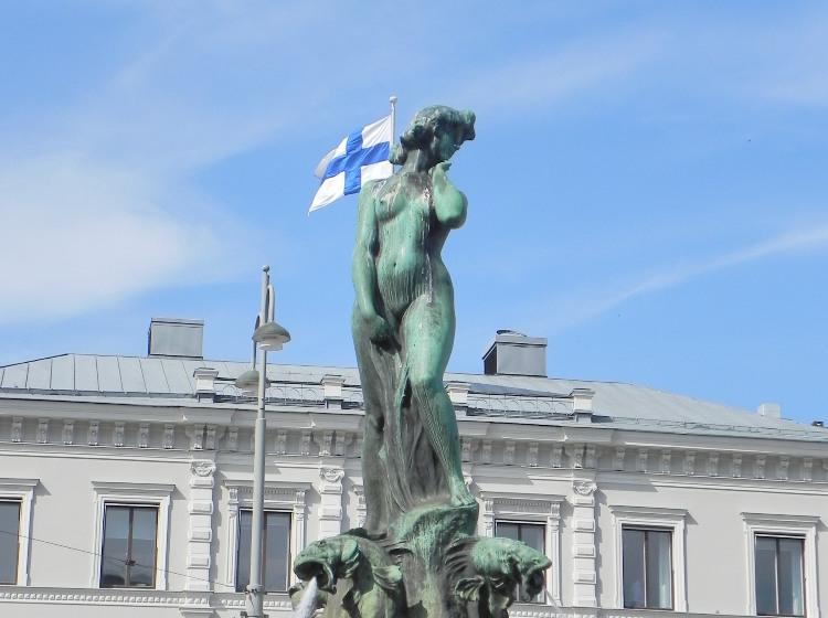 Фонтан-памятник «Хавис Аманда». Хельсинки.