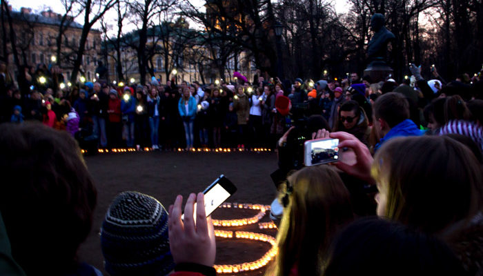 «Час Земли» прошёл в Санкт-Петербурге