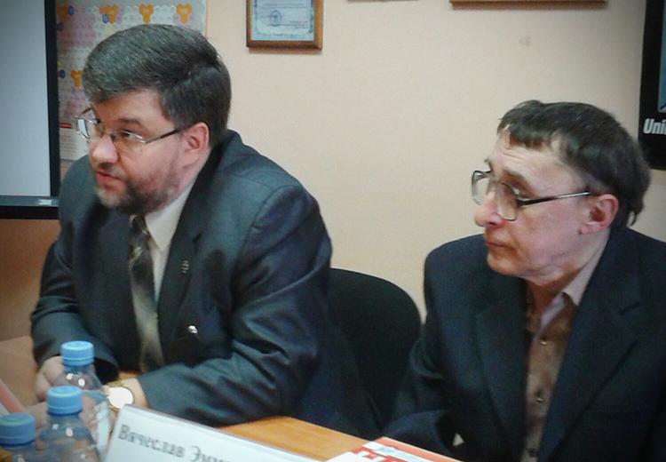 Кирилл Александров и Вячеслав Долинин. Фото: Татьяна Петрова/Великая Эпоха