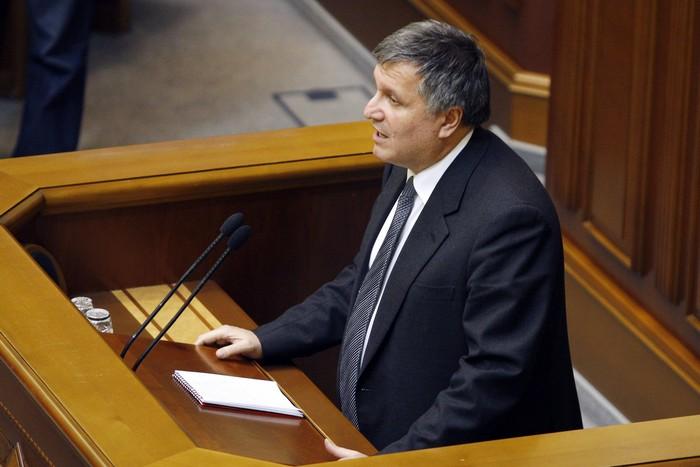 Глава МВД Украины Арсен Аваков. Фото: YURY KIRNICHNY/AFP/Getty Images