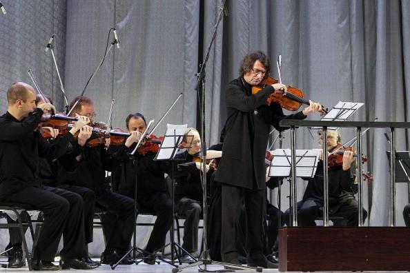 Концерт российского дирижера и альтиста Юрия Башмета в Ташкенте, Узбекистан. Фото Yves Forestier/Getty Images
