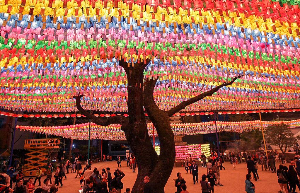 фестиваль фонарей, Южная Корея, фото дня