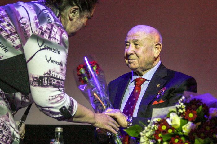 Алексей Леонов на встрече в Гоголь-центре. Фото: Ульяна Ким/Великая Эпоха (The Epoch Times)