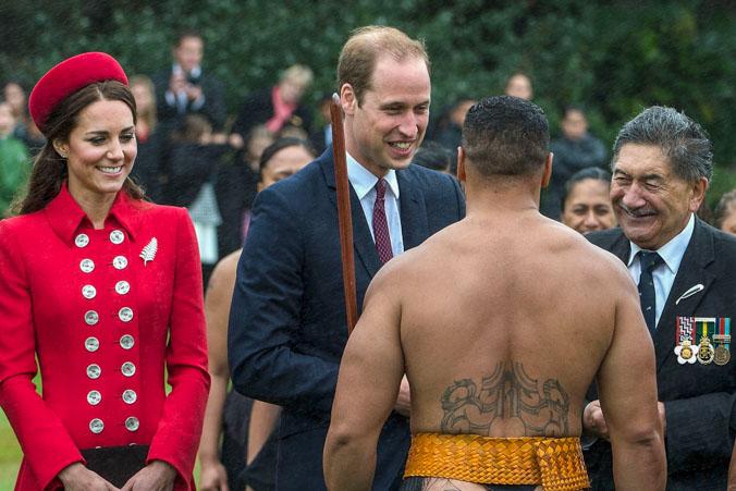 Вожди племён маори продемонстрировали свои татуировки. Фото: Marty Melville/AFP/Getty Images