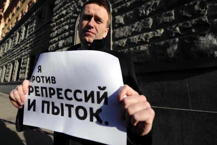 Алексей Навальный, самый цитируемый блогер в российских СМИ в рейтинге за январь 2014 года. Фото: ANDREY SMIRNOV/AFP/Getty Images