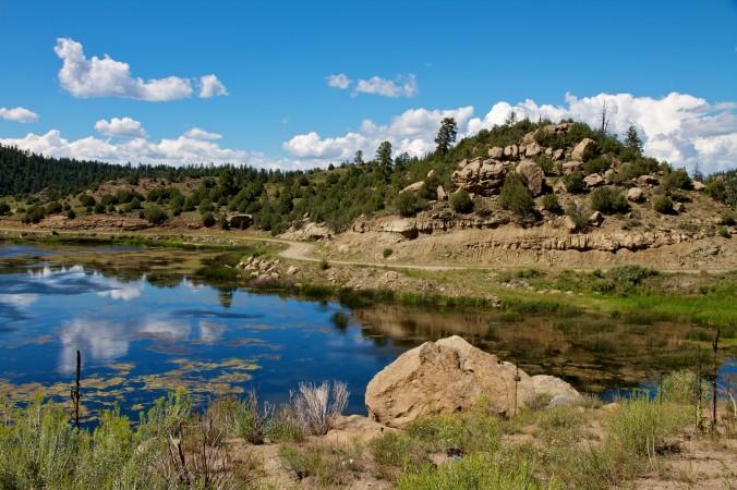 Озеро Далси, Нью-Мексико. Фил Шнайдер утверждает, что в 1979 г. он работал на секретной военной базе в Далси и встретил там инопланетян. Фото: Christopher Nicol/Wikimedia Commons