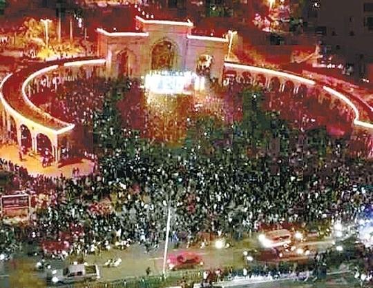 Город Маомин во время массовых протестов против строительства химического завода. Апрель 2014 года. Фото с epochtimes.com