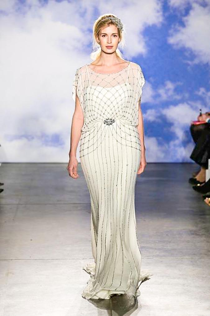 Дженни Пекхэм представила свадебные платья Jenny Packham Люкс 2014 в Нью-Йорке. Фото: Randy Brooke/Getty Images for TRESemme