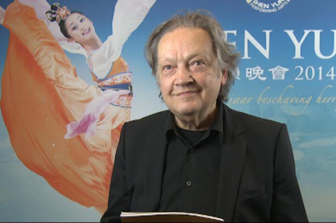 Герард Бруссе после концерта Shen Yun Performing Arts в нидерландском Lucent Dance Theatre 23 апреля 2014 года. Фото предоставлено телекомпанией NTD