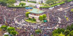 Тайваньские студенты организовали движение против режима компартии Китая