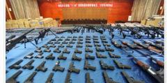 Китайская полиция раскрыла банду и изъяла огромное количество оружия