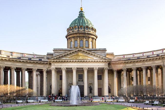 Фонтан в Казанском сквере. Фото: Олег Луценко/Великая Эпоха