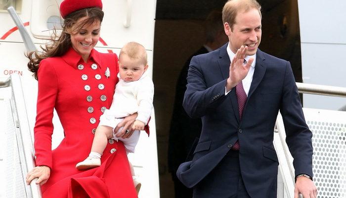 Семья герцогов Кембриджских отправилась в путешествие в полном составе