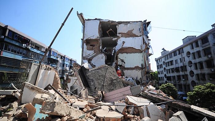 В провинции Чжэцзян рухнул дом, построенный всего 20 лет назад. Фото с epochtimes.com