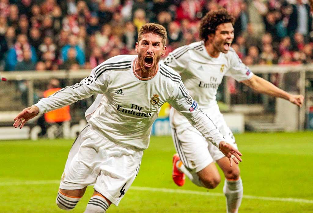 спорт, футбол, Лига Чемпионов, Реал, Бавария, Криштиану Роналду, голы, полуфинальный матч, выход в финал, Серхио Рамос