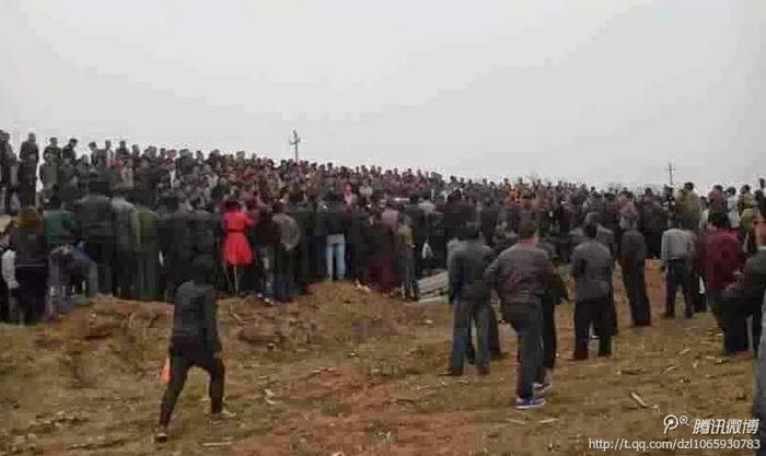 Протест шахтёров. Провинция Ляонин. Апрель 2014 год. Фото с epochtimes.com