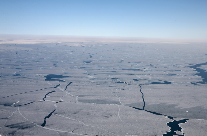Обледенение Великих озёр остановило работу крупного завода. Фото: Scott Olson/Getty Images