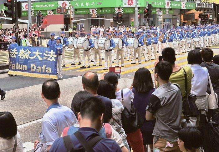 Мероприятия сторонников Фалуньгун, посвящённые годовщине исторической апелляции 25 апреля 1999 года. Гонконг. Апрель 2014 года. Фото: minghui.org