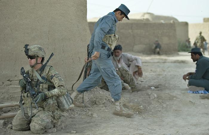 Британская военная база в Афганистане. Фото: TONY KARUMBA/AFP/GettyImages