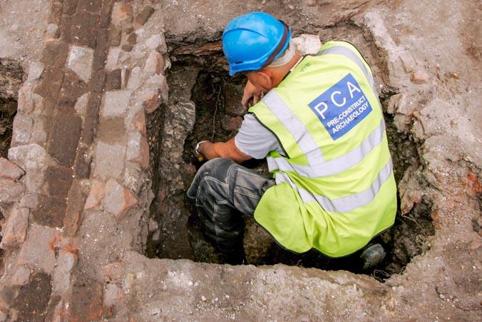 Раскопки в Лондоне. Фото: Bruno Vincent/Getty Images