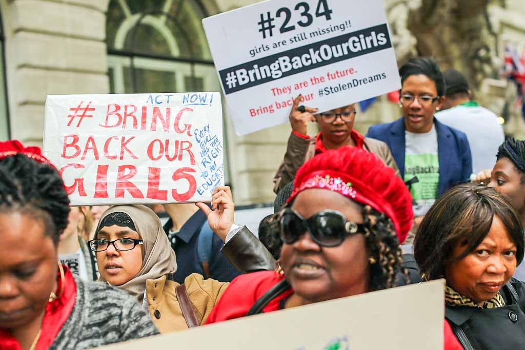 Акция протеста против действий исламистской радикальной группировки «Боко Харам» после похищения ею школьниц Нигерии, Лондон, 9 мая, 2014 год. Фото: Dan Kitwood/Getty Images