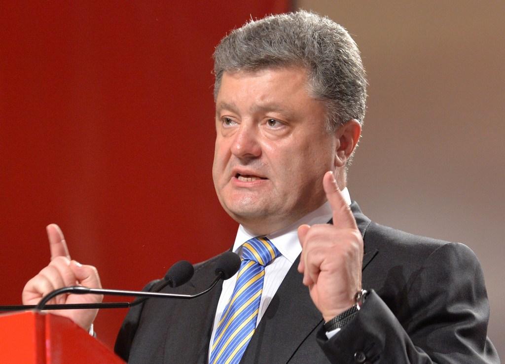 Лидирующий по итогам президентских выборов в Украине Пётр Порошенко даёт пресс-конференцию в Киеве после объявления предварительных результатов выборов, 25 мая, 2014 год. Фото:SERGEI SUPINSKY/AFP/Getty Images
