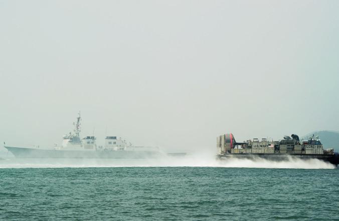 Жёлтое море, военные корабли