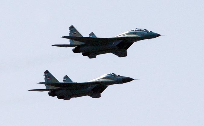 Истребители «МиГ-29». Фото: ATTA KENARE/AFP/Getty Images