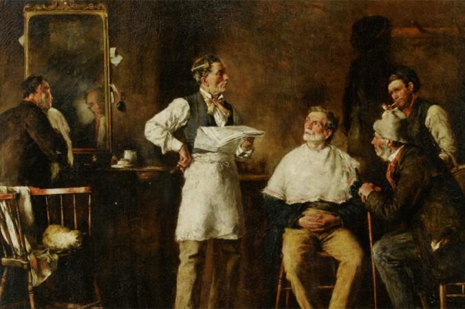 «Цирюльня», 1875, Джордж Элгар Хикс (1824–1914). Фото: Art Renewal Center