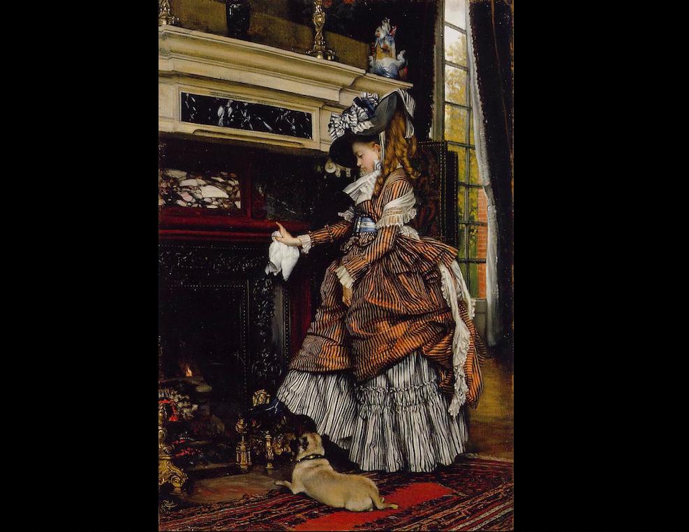 «Камин», 1869 г., Джемс Жан-Жозеф Тиссо (1836-1902 гг.). Фото: Art Renewal Center