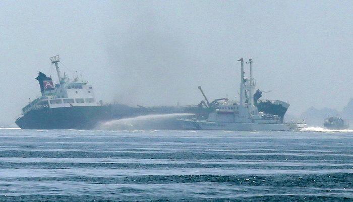 Взрыв произошёл на японском танкере