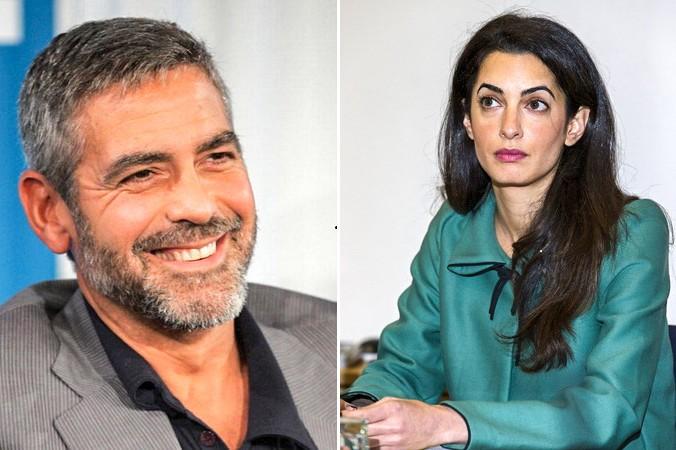 Джордж Клуни. Фото: Malcolm Taylor/Getty Images, Амаль Аламуддин. Фото: JUSTIN TALLIS/AFP/Getty Images