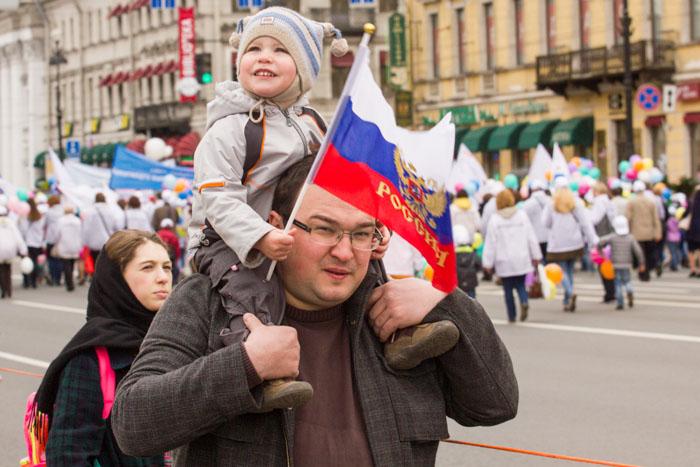 Первомайская демонстрация в Санкт-Петербурге, май 2014 год. Фото: Олег Луценко/Великая Эпоха