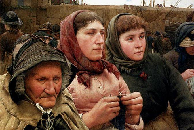 «Ждущие возвращения рыбаков», Уолтер Лэнгли (1852–1922) Фото: Art Renewal Center