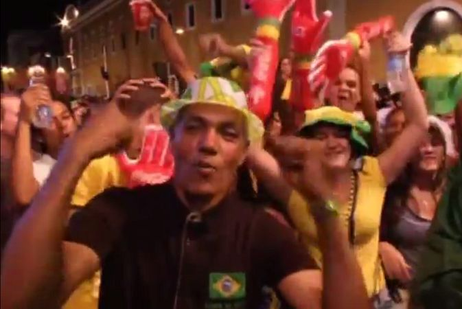 Бразильские фанаты отметили победу своей сборной в первом матче чемпионата мира
