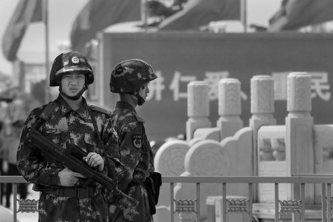 Китайский спецназ на площади Тяньаньмэнь 4 июня 2014 года, Пекин, Китай. Фото: Kevin Frayer/Getty Images