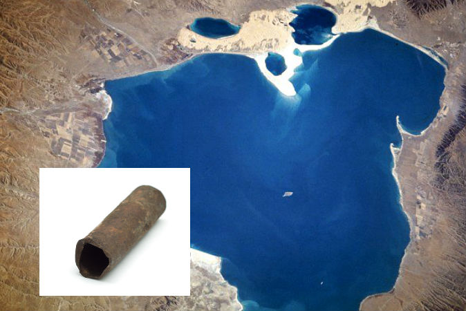 В районе озере Цинхай были найдены таинственные трубы. Фото: NASA; Shutterstock*