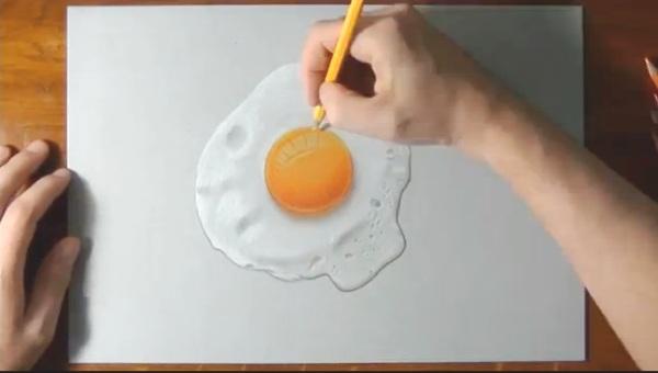 видео, рисунок, яичница