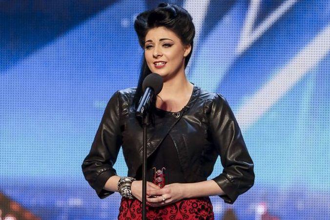 Люси Кей испоняет 'Vissi d'arte' Верди на Britain's Got Talent. Скриншот видео