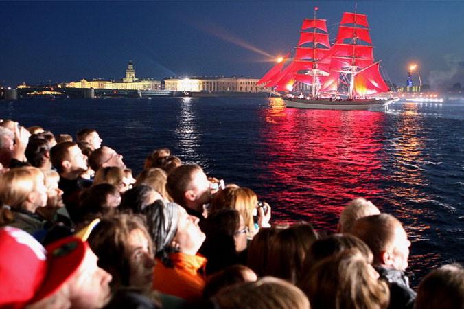 туризм, Россия, Санкт-Петербург, праздник Алые паруса