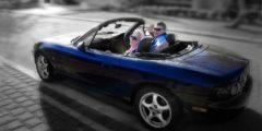 Романтическое свидание в автомобиле