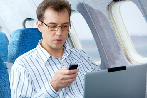 самолёт, телефон