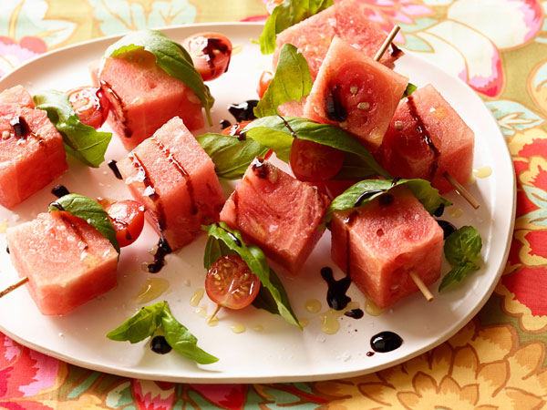 рецепт, кулинария, шашлык, помидоры, арбуз