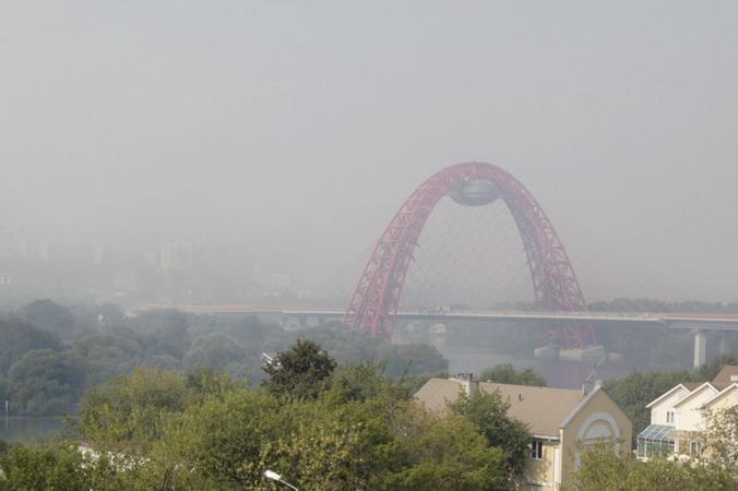 Москва, запах торфа, пожар
