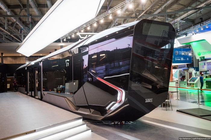 Космический трамвай Russia One представили в Екатеринбурге