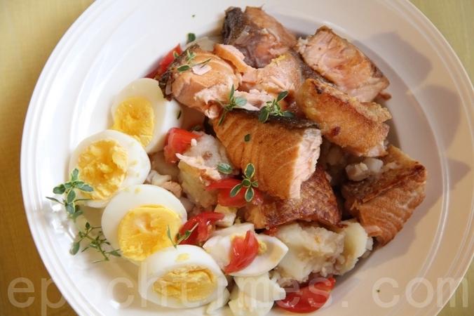салат, салат из лосося, рецепты